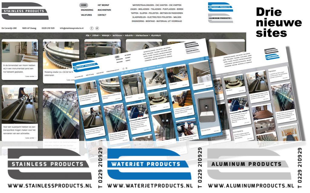 webbuilding voor Stainless Products